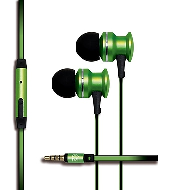Mental Beats Xcentric Extra Bass Audio In-Ear Earbuds with Microphone, Green