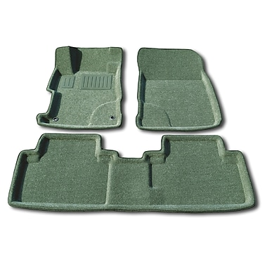 Findway 3D Floor Mats (2609BY) for 2012-2013 Honda Civic Sedan, Grey, English