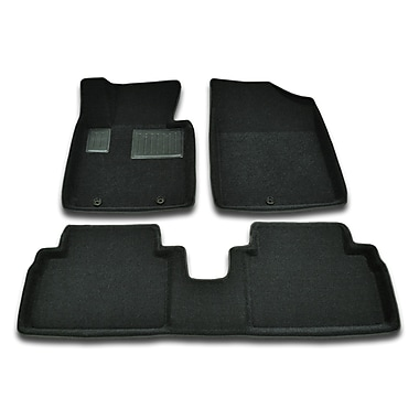 Findway 3D Floor Mats (28210BB) for 2012-2015 Hyundai Veloster, Black, English