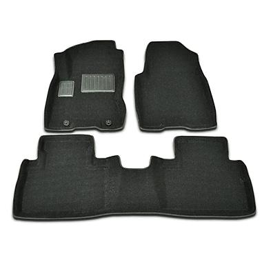Findway - Tapis protecteurs 3D (46130BB) pour Nissan Rogue 2008-2013, noir, anglais