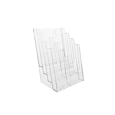 Acrylic Brochure Holders, 4 Tier Full Page Countertop