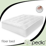 BioPEDIC Baffled 100pct Cotton Fiber Bed w/ Bonus Pillows; King