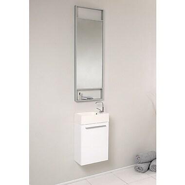 Fresca Senza 16'' Single Bathroom Vanity Set w/ Mirror; White