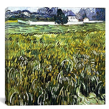 iCanvas 'Auvers at Auvers' by Vincent Van Gogh Painting Print on Canvas; 12'' H x 12'' W x 0.75'' D