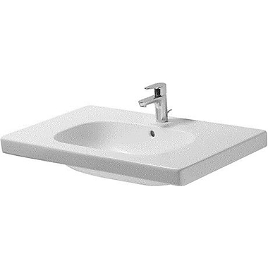 Duravit D-Code Ceramic 34'' Wall Mount Bathroom Sink w/ Overflow