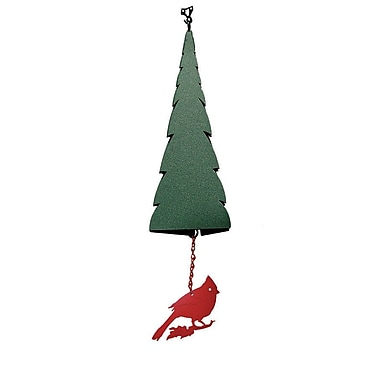 North Country Wind Bells Wilderness Pointed Fir of the North Wind Bell w/ Cardinal Windcatcher