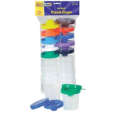 Chenille Kraft No Spill Paint Cups 10/pk Dual Lid