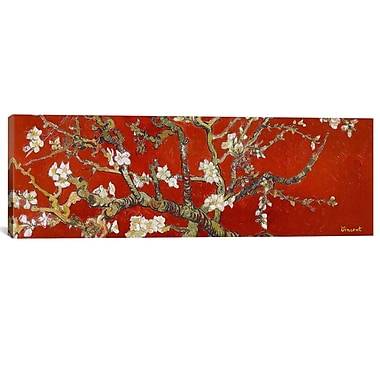 iCanvas 'Almond Blossom' by Vincent Van Gogh Painting Print on Canvas; 30'' H x 90'' W x 1.5'' D