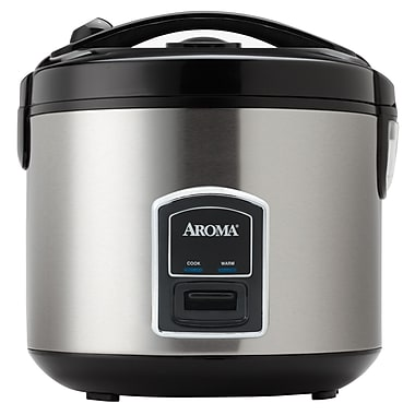 Aroma Professional 20-Cup Stainless Steel Rice Cooker and Food Steamer