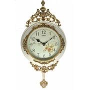 Three Star Wall Clock; Ivory / Gold