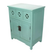 Heather Ann 1 Drawer and 2 Doors Cabinet; Teal
