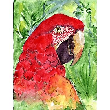 Caroline's Treasures Macaw House Vertical Flag