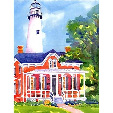 Caroline's Treasures Lighthouse House Vertical Flag