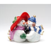CosmosGifts Romantic Snowman Couple Salt and Pepper Set