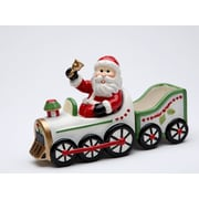 CosmosGifts Santa Driving on The Train Salt and Pepper Set w/ Sugar Pack Holder