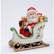 CosmosGifts Santa Sitting on the Sleigh Salt and Pepper Set