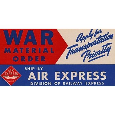 Marmont Hill Air Express Licensed Smithsonian Graphic Art on Wrapped Canvas; 22.5'' H x 45'' W