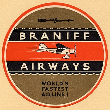 Marmont Hill Braniff Airlines 2 Licensed Smithsonian Graphic Art on Wrapped Canvas; 40'' H x 40'' W