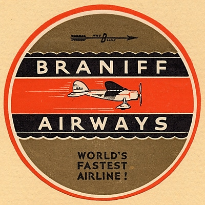 Marmont Hill Braniff Airlines 2 Licensed Smithsonian Graphic Art on Wrapped Canvas; 24'' H x 24'' W