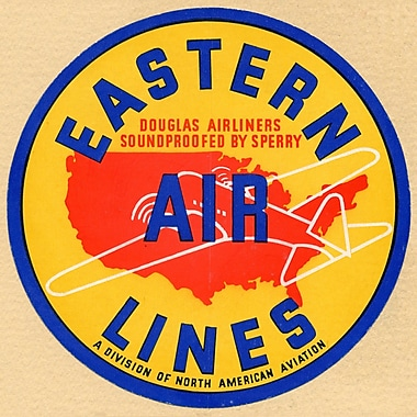 Marmont Hill Eastern Airlines Licensed Smithsonian Graphic Art on Wrapped Canvas; 40'' H x 40'' W