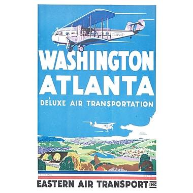 Marmont Hill Washington Atlanta Licensed Smithsonian Graphic Art on Wrapped Canvas; 24'' H x 36'' W