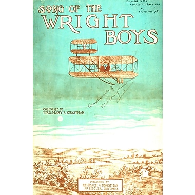 Marmont Hill Wright Brothers Licensed Smithsonian Graphic Art on Wrapped Canvas; 16'' H x 24'' W