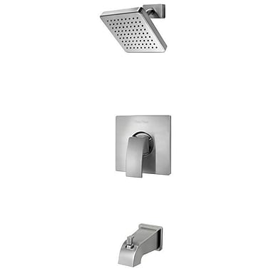 Pfister Kenzo Single Handle Tub and Shower Trim; Brushed Nickel