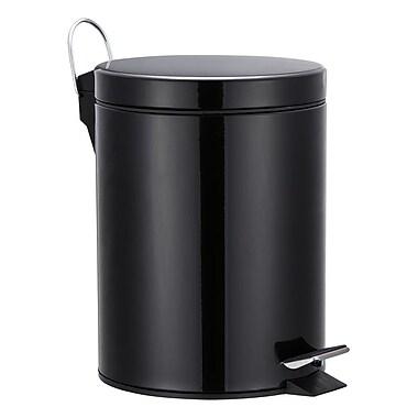 Hopeful Enterprise Metal 1.32 Gallon Step On Trash Can; Black