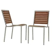 Cortesi Home Owen Stacking Dining Side Chair (Set of 2)