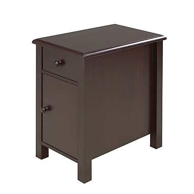 Brassex 13669 Telephone Stand with Storage Drawer & Storage Cabinet, Dark Cherry, 20 x 13.5 x 24