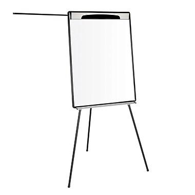 MasterVision – Tableau de présentation magnétique sur trépied, à effacement sec, avec bras extensibles, noir (EA23062119)