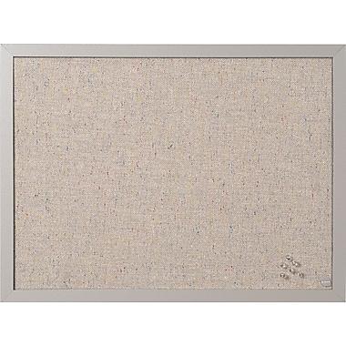 MasterVision - Tableau d'affichage en tissu, 24 po x 18 po, gris (FB0470608)