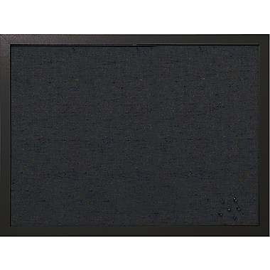 MasterVision - Tableau d'affichage en tissu, 24 po x 18 po, noir (FB0471168)