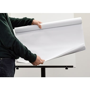 MasterVision Super Value Self-Stick Easel Pad Roll, 30 Sheets/Roll, 2 Rolls/Pack, White (FL1230207)