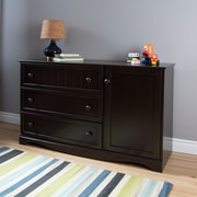 "Commode 3 tiroirs avec porte, Espresso, Savannah de Meubles South Shore, 53""(L)x17""(D)x32""(H)"