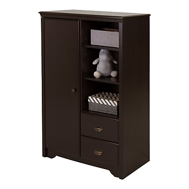 South Shore Fundy Tide Armoire with Drawers, Espresso, 34