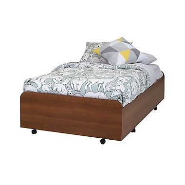 South Shore Mobby Twin Trundle Bed (39) on Casters, Morgan Cherry