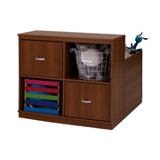 "South Shore Mobby Mobile Storage Unit, Morgan Cherry, 35.5"" (L) x 41.5"" (D) x 31.25"" (H)"
