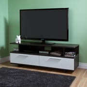 """Meuble TV, TV jusqu'à 60 pouces, chêne gris et blanc, Reflekt de Meubles South Shore, 59""""Lx18""""Dx22""""H"""