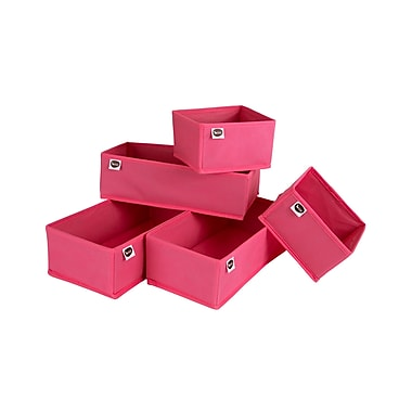 "Organisateurs de tiroirs, rose, Meubles South Shore, 13,25"" (L) x 6,5"" (D) x 4,25"" (H)"