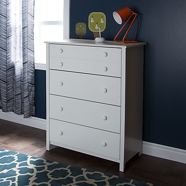 South Shore Little Smileys 4-Drawer Chest, Pure White, 31.5