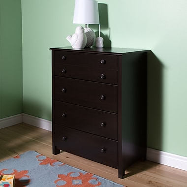 South Shore Little Smileys 4-Drawer Chest, Espresso, 31.5
