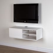 "South Shore Agora 38"" Wide Wall Mounted Media Console, Pure White, 37.75""(L) x 17.25""(D) x 12""(H)"