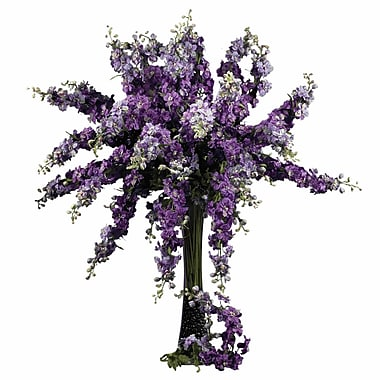 Nearly Natural 38.5'' Delphinium Stem in Purple (Set of 12)