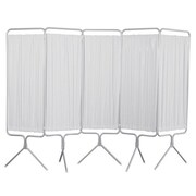 Winco Manufacturing 5 Panel Aluminum Folding Privacy Screen