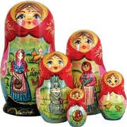 G Debrekht Russian 5 Piece Easter Story Nested Doll Set