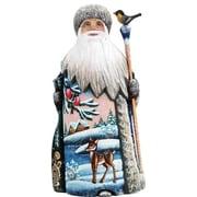G Debrekht Masterpiece Village Fawn Santa Figurine