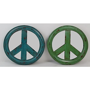 Firefly Home Collection Peace Accent Mirror (Set of 2)