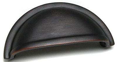 Richelieu 3'' Center Cup/Bin Pull; Brushed Oil-Rubbed Bronze WYF078278020268