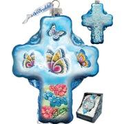 G Debrekht Holiday LED Butterflies Glass Ornament